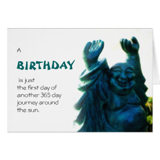 Estatua del cumpleaños tarjeta de felicitación