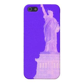 Estatua del Día de la Independencia los E.E.U.U. p iPhone 5 Cárcasas