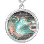 estatua del dragón con imagen de la capa del texto colgante personalizado