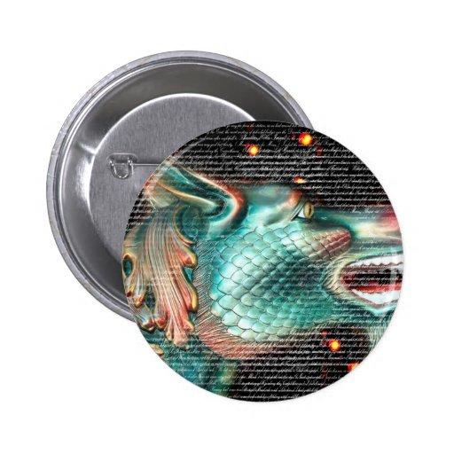 estatua del dragón con imagen de la capa del texto pins