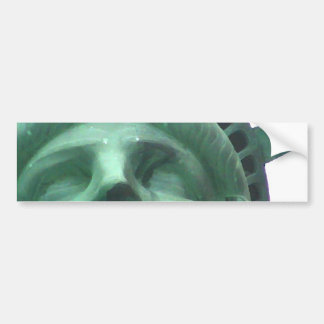 Estatua del efecto del aceite de la libertad pegatina para auto