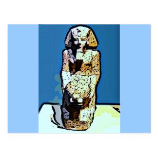 Estatua del egipcio del dibujo animado tarjeta postal