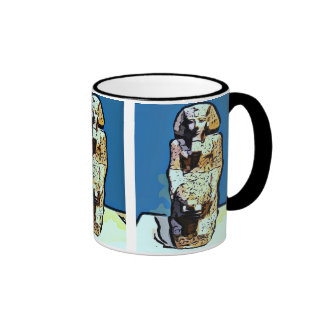 Estatua del egipcio del dibujo animado taza de café