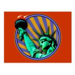 Estatua del emblema de la libertad postal