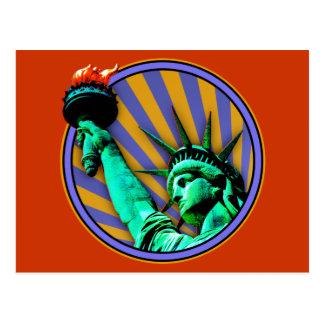 Estatua del emblema de la libertad postales