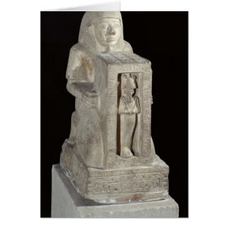 Estatua del escribano real, Seti de Naophorous Tarjetón