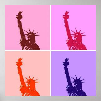 Estatua del estilo del arte pop del poster de la l