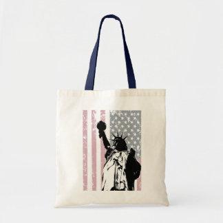 Estatua del fondo de la libertad bolsas de mano