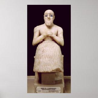 Estatua del funcionario Ebih-IL Poster