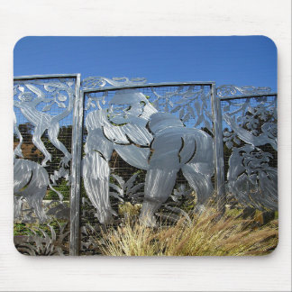 Estatua del gorila tapete de ratón