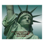 Estatua del griterío de la libertad impresiones