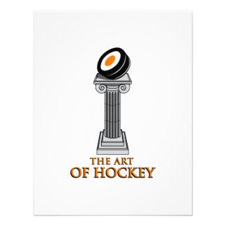 Estatua del hockey anuncio