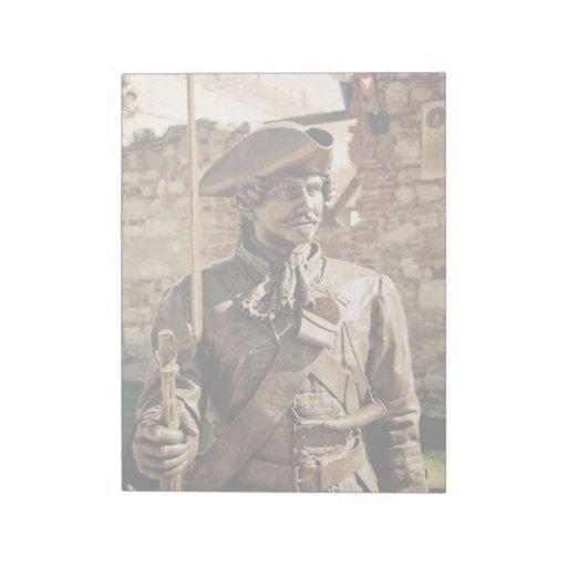 Estatua del hombre bloc de papel