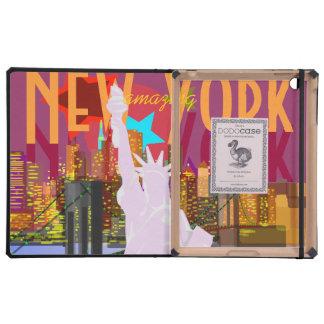 Estatua del horizonte de New York City de la iPad Coberturas