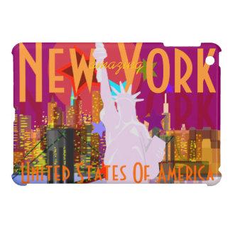 Estatua del horizonte de New York City de la liber