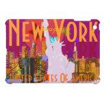 Estatua del horizonte de New York City de la liber iPad Mini Protectores