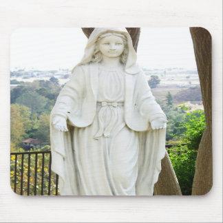 Estatua del jardín del Virgen María Alfombrilla De Raton