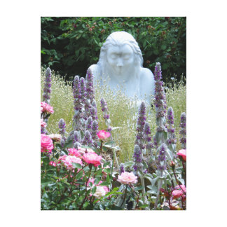 Estatua del jardín impresión en lienzo