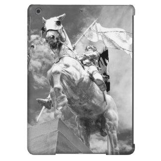 Estatua del jinete en caballo funda para iPad air