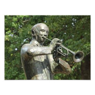 Estatua del jugador de los azules fotografia