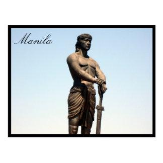 estatua del lapu del lapu postal