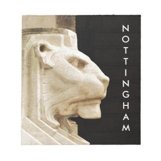 Estatua del león en Nottingham Bloc De Notas