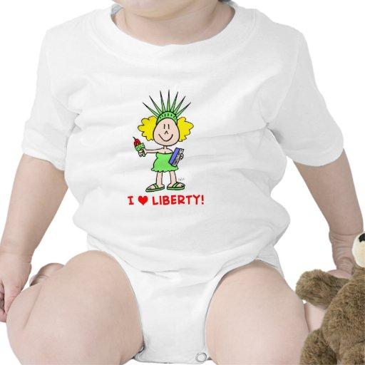 Estatua del libbie de la libertad del amor del trajes de bebé