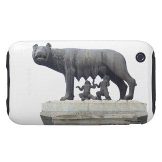 Estatua del lobo de Capitoline (cría del Ella-lobo iPhone 3 Tough Carcasas