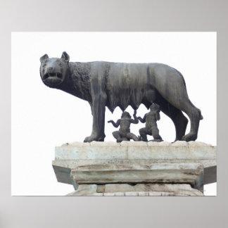 Estatua del lobo de Capitoline (cría del Ella-lobo Póster