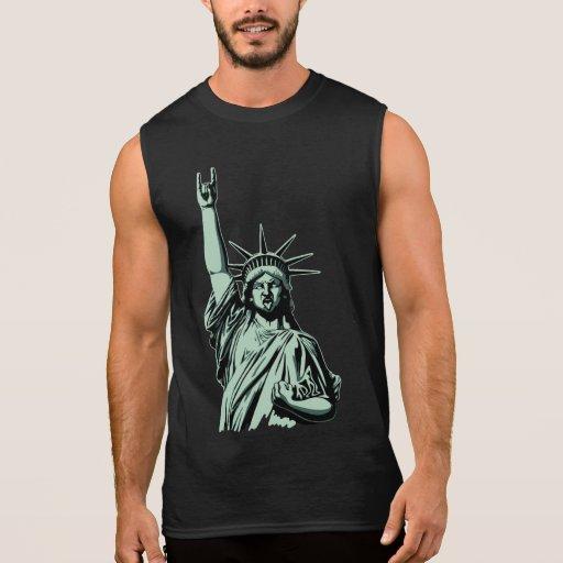 Estatua del metal camisetas