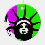 Estatua del ornamento estilizado de la libertad adornos