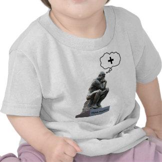 Estatua del pensador - piense el positivo camiseta