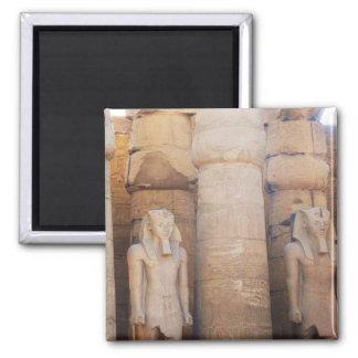 Estatua del Pharaoh Ramses II, Luxor Temple Imán Cuadrado
