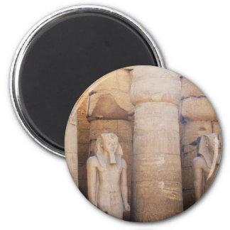 Estatua del Pharaoh Ramses II, Luxor Temple Imán Redondo 5 Cm