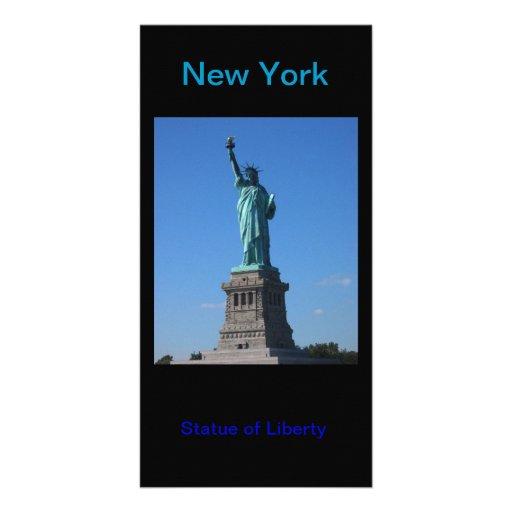 Estatua del photocard de la libertad tarjetas fotográficas