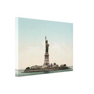 Estatua del photocrom de la libertad impresión en lienzo