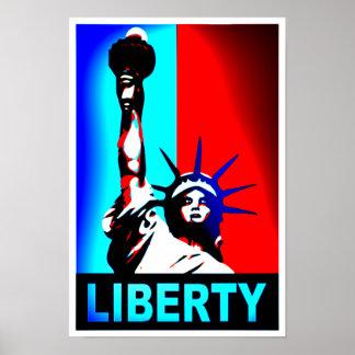 Estatua del poster de la libertad