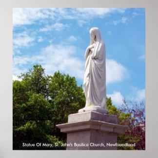 Estatua del poster de Maria