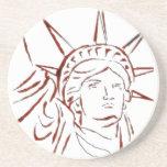 Estatua del práctico de costa de la libertad posavasos diseño