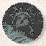 Estatua del práctico de costa de Nueva York del re Posavasos Personalizados