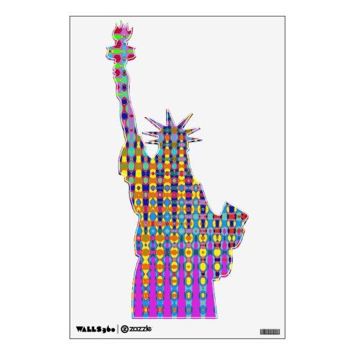 Estatua del Psychedelia de la etiqueta de la pared