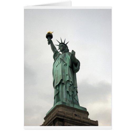 Estatua del puerto de Nueva York de la libertad Felicitaciones