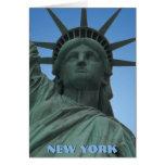Estatua del recuerdo de Nueva York de la tarjeta d