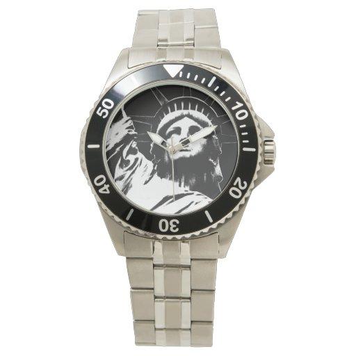 Estatua del reloj de Nueva York del reloj de la