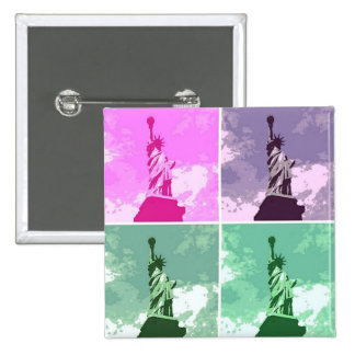 Estatua del símbolo de los E.E.U.U. del arte pop Pin Cuadrada 5 Cm