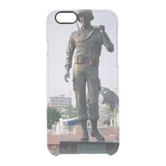 Estatua del soldado funda clear para iPhone 6/6S