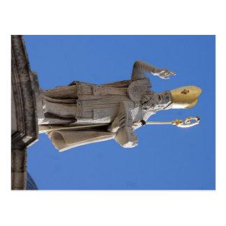 Estatua del St. Blasius, Dubrovnik, Croacia Tarjeta Postal