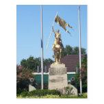 Estatua del St. Juana de Arco Tarjeta Postal