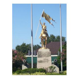 Estatua del St Juana de Arco Tarjeta Postal