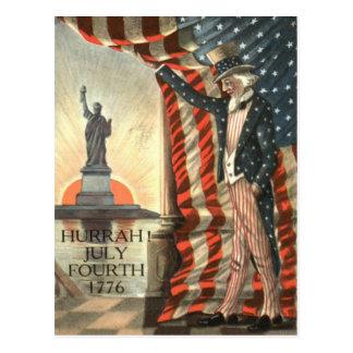 Estatua del tío Sam de la bandera de los E.E.U.U. Postales